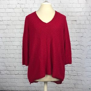Red sweater by Vince Camuto